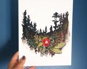 "Oregon print, 8""x10"""