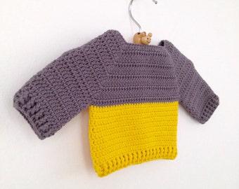 Crochet Newborn Sweater Pattern PDF - Instant Download