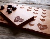 Valentines Day Personalized Cutting Board Engraved - Wood Cutting Board Set - Wedding Gift, Housewarming Gift, Anniversary Gift - Perso