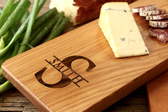 Personalized Cheese Cutting Board, Engraved Cutting Board, Personalized Wedding Gift, Housewarming Gift, Anniversary Gift