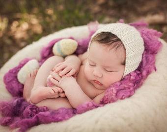 Alpaca Photo Prop Bonnet Newborn Size Cashmere Silk Bonnet Newborn Photo Prop Bonnet Newborn Boy Bonnet Newborn Girl Bonnet, Newborn Size