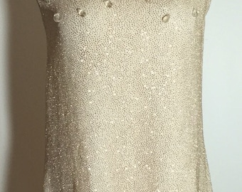 Band of Gold 1960's Style Glitter Crystal Baby Doll Dress Moving sale