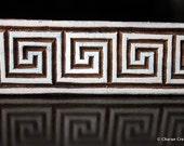 Hand Carved Stamp, Indian Wood Stamp, Textile Stamp Block-Greek Inspired Border