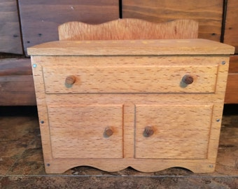 Vintage Wooden Dry Sink Recipe Box