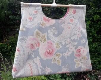 knitting bag - floral knitting bag - knitting purse - project bag - project purse - sewing bag - craft bag - craft sac