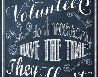 Inspirational Wall Art - Volunteer Heart - DIY - Spiritual Quote