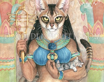 Bastet Egyptian Cat Goddess Print