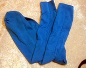 Vintage Ban-Lon Turquoise/Aqua Nylon Socks Men's Hosiery Fits 10 - 13 40's/50's