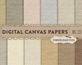 Canvas/Burlap Digital Papers No. 23 - Brown & Beige