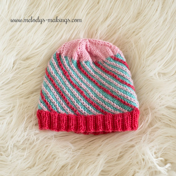 Knitting Works : Knit beanie pattern boy hat men s