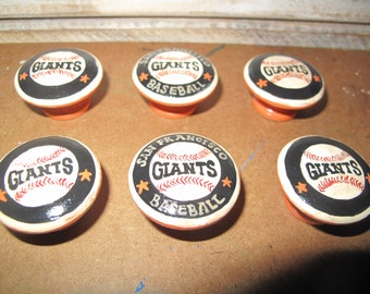 Customized San Franciso Giants Dresser knobs