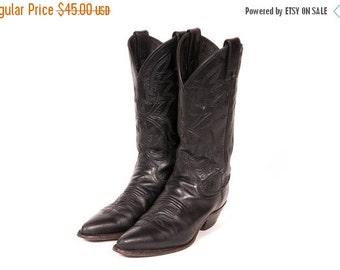 30% OFF Women's Black COWBOY Boots Size 5 .5 B