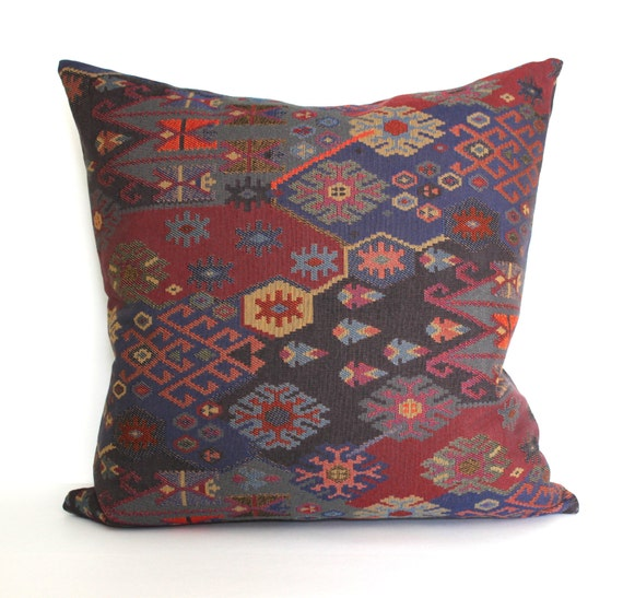 Modern Southwest Pillow : Decorative Southwest Global Ethnic Throw Pillow Cover Floor