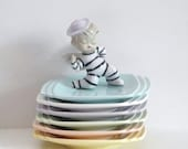 ON SALE Pastel Saucers - Pastel Rainbow - Rainbow Dishes - Vintage Rainbow - A Company of Friends Pottery