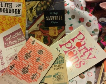 Nice Lot of Six Vintage Cook booklets Very Retro