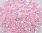 100pcs - 6mm Light Pink AB Jelly Flatback Rhinestones AJ30006