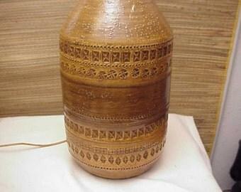 Large BITOSSI Pottery Lamp by ALDO LONDI Raymor Netter Italy Italian Art
