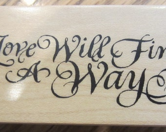 Psx  Love Will Find A Way F-1982 1996 Wood Mount Rubber Stamp