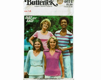 Fast & Easy T-Shirts Bust 36 Size 14 Uncut Sewing Pattern for Knits Butterick 4614