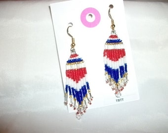 Red White N Blue Earrings