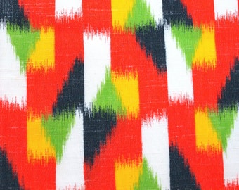 Fabric Bolt wool blend, Vintage Japanese, Kimono fabric by the yard, 100% Wool, multicolor ethnic print 1 yard