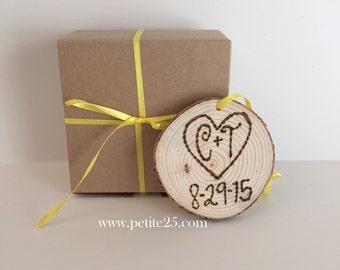First Christmas together ornament, wooden ornament, custom, personalized, wood slice, wedding gift, anniversary gift