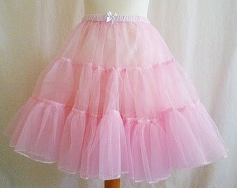 Crinoline, Underskirt,Fluffy Petticoat, Pink, Womens, All Sizes, ROOBY LAnE