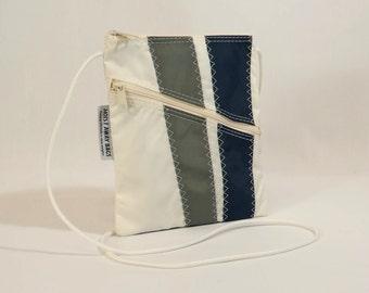 Crossbody Bag, Shoulder Bag, Small Shoulder Bag, Nautical Bag, Bridesmaid Bag, Sail Bag, White Bag, Navy Bag, Gray Bag (OTS3)