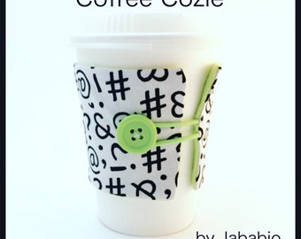 Coffe cozy/drink sleeve/cup sleeve/ eco friendly