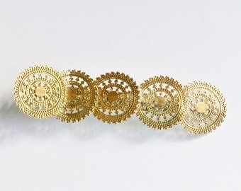 Hair Accessory Alligator Clip Gold Tone Handmade Hair Jewelry Jewellery Wedding Prom Bridal Party Gift Guide Women Girls