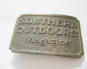 Southern Outdoors Magazine Belt Buckle Sports Fishing Hunting Free US Shipping- FL