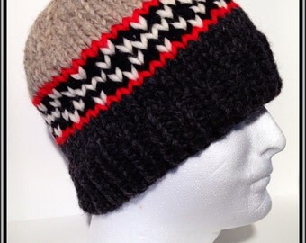 "Vintage Canadian Style Wool Toque ""Canadian Pride"""