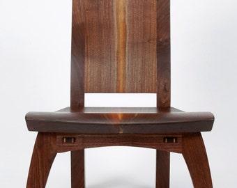 Cascade lounge chair in walnut
