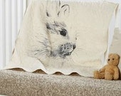 "handmade baby quilt - baby bunny rabbit - crib/toddler bedding - 36""x45"" velveteen rabbit"