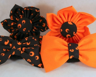 Dog Flower, Dog Bow Tie, Cat Flower, Cat Bow Tie - Haunted Eyes