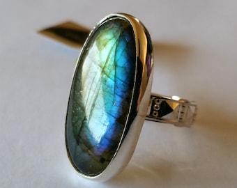 Large Labradorite Ring Handmade