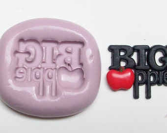 Big Apple New York Mold  #281 - silicone flexible mold, craft mold, porcelain mold, jewelry mold, food mold, clays mold., resin, sugar