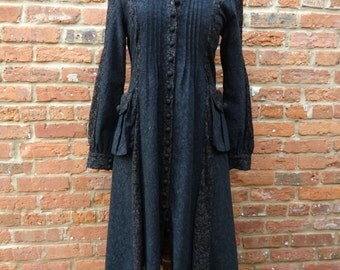 Long Black Dress,Long Black Coat,Goth Dress,Nine Muses Of Crete