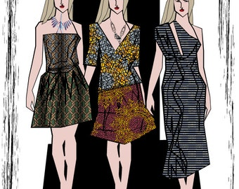 "Vector art poster  ""Dichroa Fashion Design"""