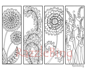 Printable Heart Bookmarks to Color – Craftbnb