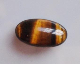Tiger's Eye Gem Stone Pin Brooch 1920s Marked