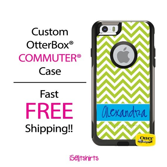 iPhone OtterBox Commuter Case for iPhone 7, 7 Plus, 6/6s, 6 Plus/6s Plus, 5/5s/SE, 5c Galaxy S7 S6 S5 Note 5 Monogrammed Skinny Chevron Band
