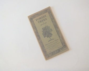 Forest Trees of Kentucky, Pocket Manual, 1930's, Vintage Tree Guide 1934