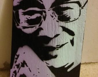 Dalai Lama (wood Lavender blue