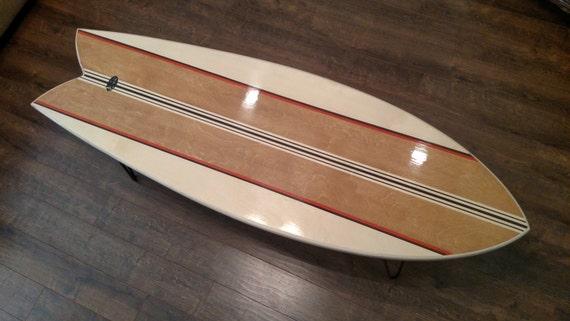 54 Retro Fish Surfboard Coffee Table