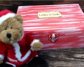 Letters to Santa Wooden Memory Box  Same Day Shipping