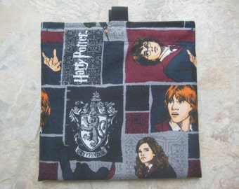 Harry Potter Bag - Reusable Sandwich Bag, Reusable Snack Bag with easy open tabs