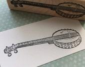 Banjo  Rubber Stamp 1989