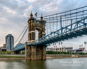 Roebling Suspension Bridge - Fine Art Photo Print, Wall Decor, Cincinnati Print, Cincinnati Photo, Roebling Print