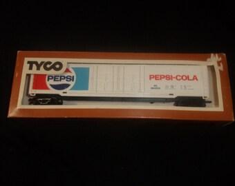 vintage ho toy train car tyco pepsi cola railroad setup